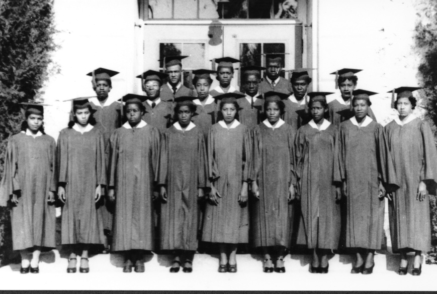 Despite the obstacles inherent in segregation black Sarasota persevered in separate schools, businesses, parks and beaches.  Pictured here is the graduating class of the then all black Booker High School in the 1950's—Howevever changes as a result of Brown v. The Board of Education and the dawn of the Modern Civil Rights Movement was coming to Sarasota.