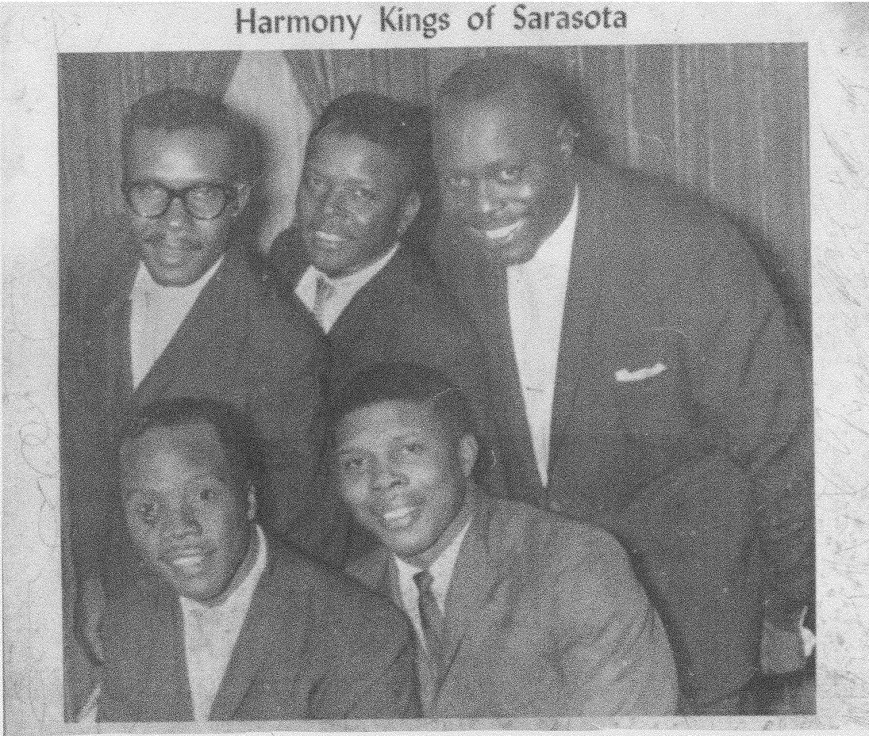 Harmony Kings, local blues group. First African American group to play at the Terrace Hotel Rooftop club.