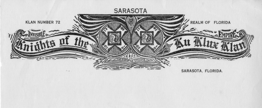 Sarasota KKK chapter emblem